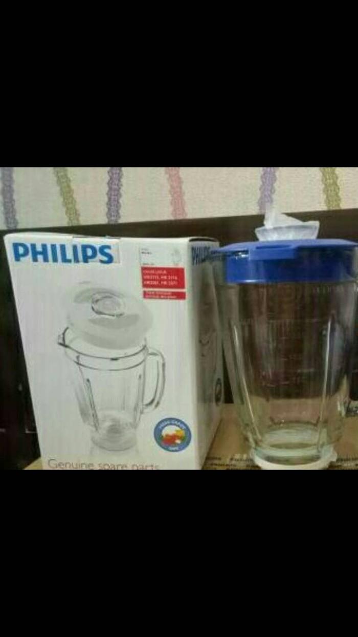 Jual Gelas Kaca Blender Philips Hr 2061 2071 2115 2116 Original Set