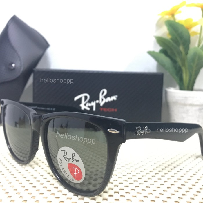 harga Kacamata rayban wayfarer 2140 polarized black glossy size 54 besar  Tokopedia.com ee1cef7fb2