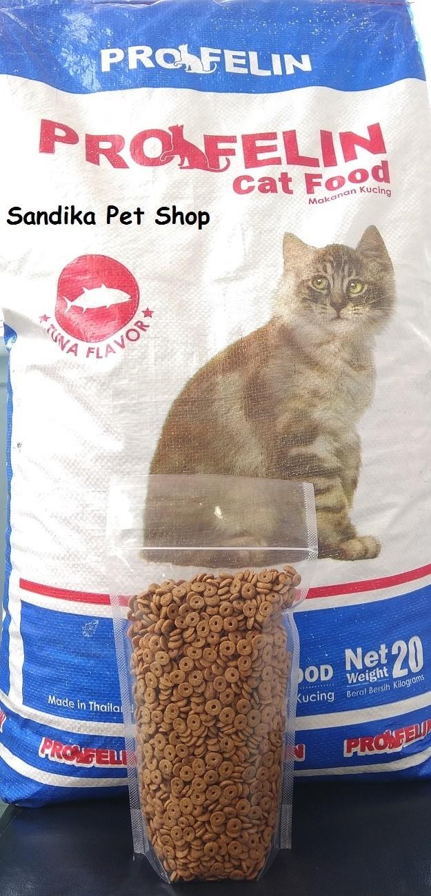 Jual Makanan Kucing Cat Food PROFELIN REPACK TUNA 500 Gram Jakarta Timur Sandika Petshop