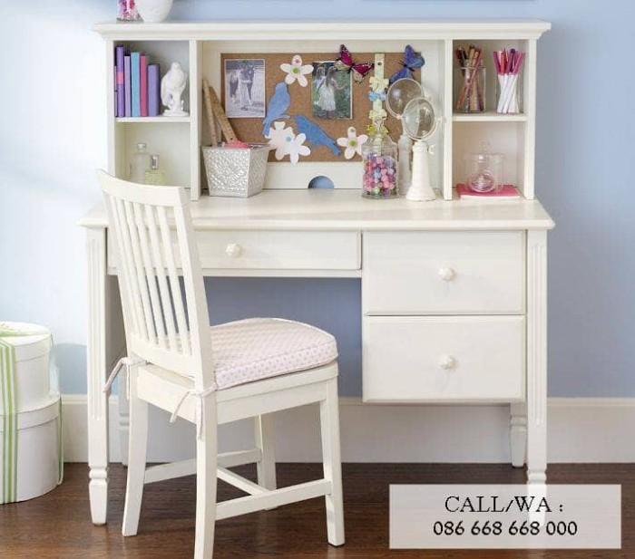 Jual Meja Belajar Anak Meja Belajar Kayu Murah Putih Minimalis Kab Jepara Galena Furniture Tokopedia