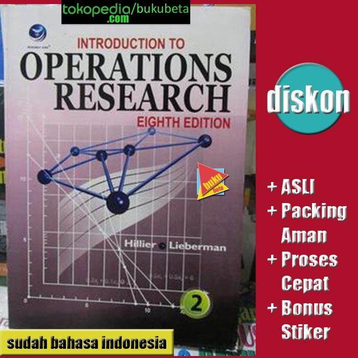 harga Introduction to operations research jilid 2 ed 8 - frederick s hillier Tokopedia.com