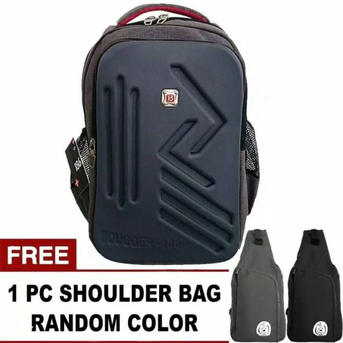 [BUNDLE OREGON] BOUGGER EMBOSS LAPTOP BACKPACK + FREE 1 SHOULDER BAG