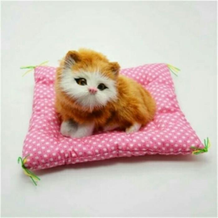 harga Boneka kucing duduk alas persegi Tokopedia.com