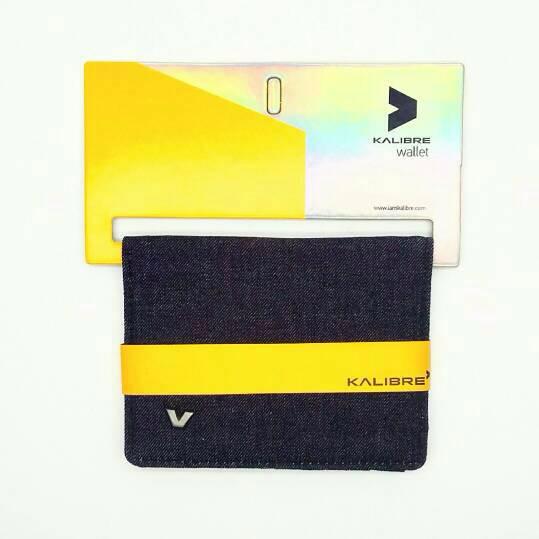 premium Kalibre 995062-999 Dompet Denim Jeans Biru Navy Blue Wallet KA