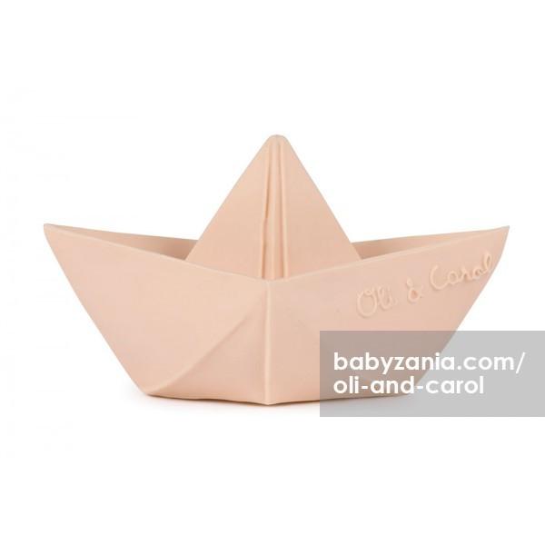 Oli & carol origami boat teether - nude