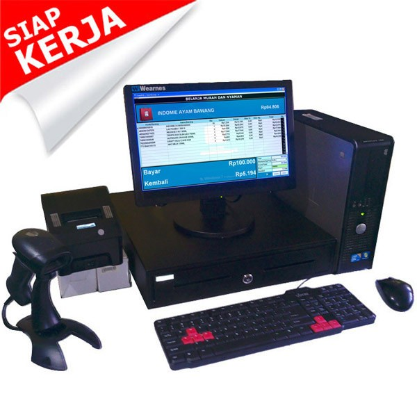 Foto Produk Paket Kasir | PC Kasir | Komputer Kasir | Mesin Kasir - Fullset_2 dari Toko Software Kita