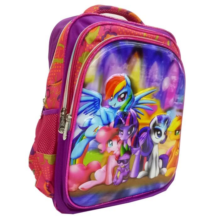 ... Tas Ransel Anak SD My Little Pony 5D Timbul Hologram 3 Kantung Import