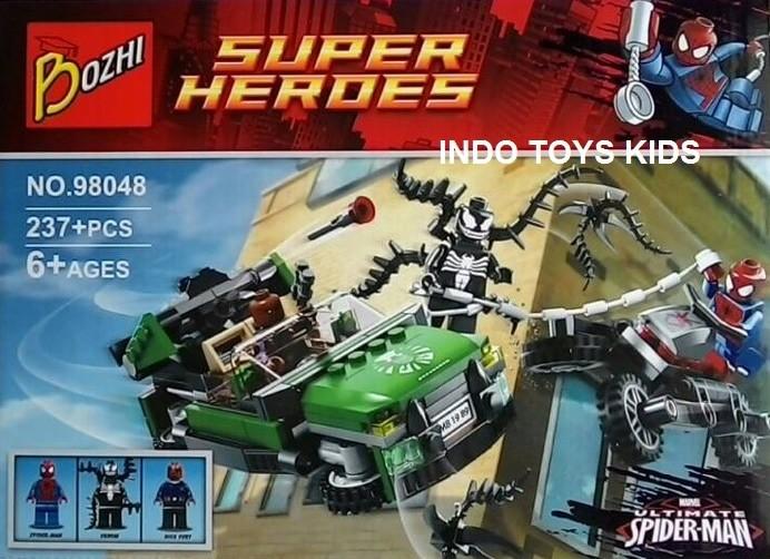 harga Bozhi 98048 spider man/venom/nick fury action locomotive tracking down Tokopedia.com