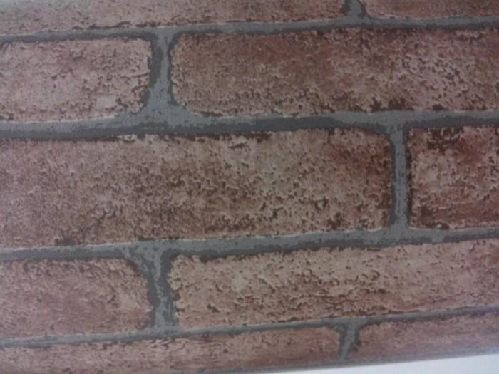 jual wallpaper sticker motif batu bata merek octki. balikpapan
