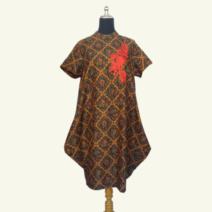 Jual Modern Batik Dress - Batik Sogan Dress - Batik Pesta Elegan ... fd8575174d