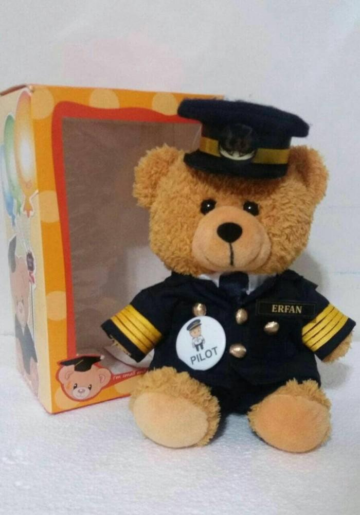 Jual boneka teddy bear beruang seragam profesi pilot - Queen ACC II ... 0c8c740c55