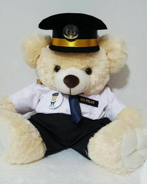 Jual boneka profesi seragam pilot teddy bear jumbo - Queen ACC II ... 415429ee43
