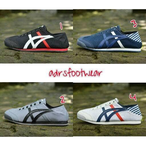 harga Sepatu pria asics slip on onitsuka murah casual sneakers prety slop la Tokopedia.com