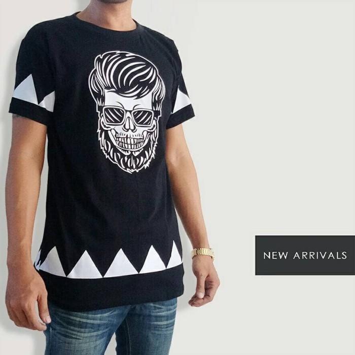 Kaos Distro Murah Merk BeBoys - Old Skull Print