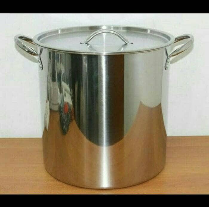 Steamer pot 30 liter tong stainless kukusan dandang kukus panci sarang