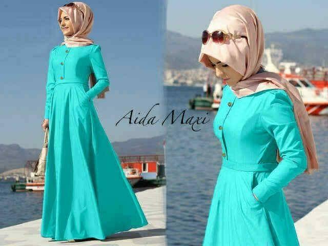 harga Aida maxi tosca / maxi dress premium / gamis muslimah premium pashmina Tokopedia.com