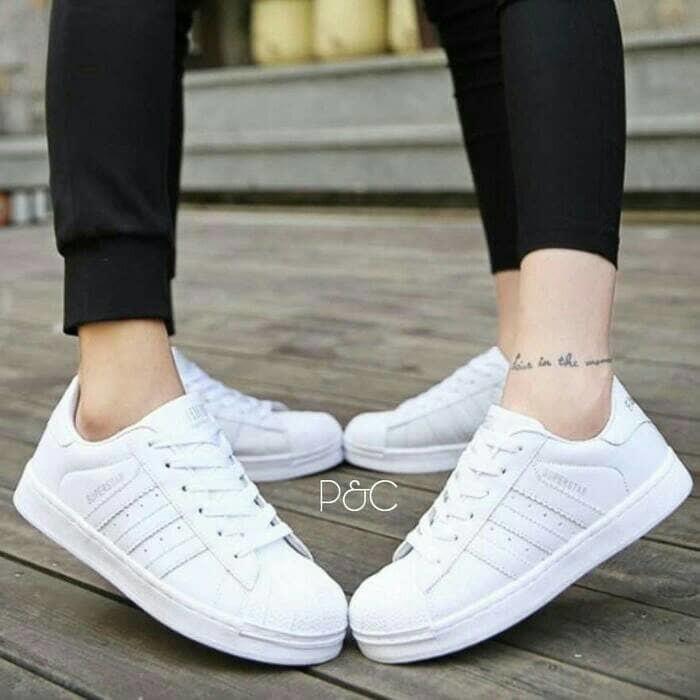 Jual Sepatu adidas putih wanita kets   casual   sport   sneakers ... 195ea18433