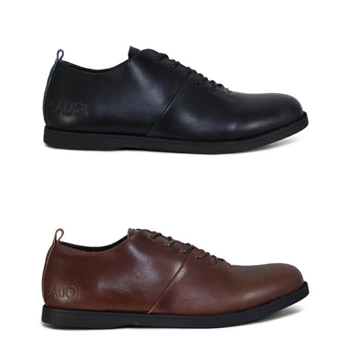 Foto Produk Sauqi Footwear - Vegas Sepatu Casual Formal Pria Kulit Asli 2 Warna - Hitam, 39 dari Juragan Sepatu Bagus