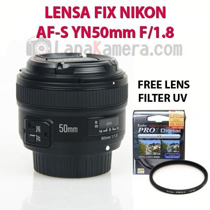 harga Lensa Fix Nikon Af-s Yn50mm F/1.8 Tokopedia.com