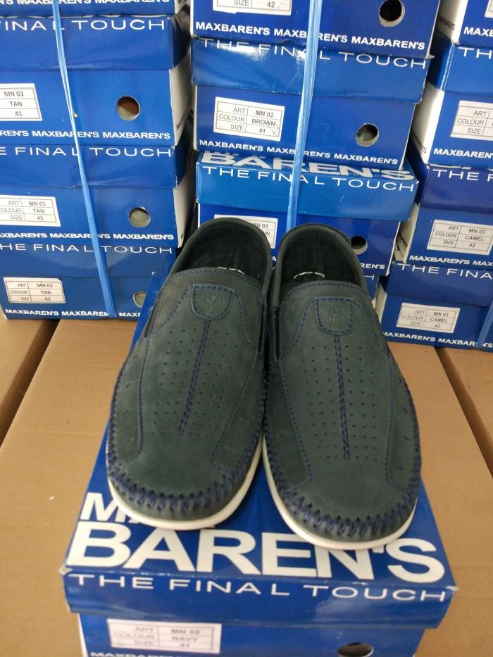 harga Max barens sepatu kulit pria mn 05 navy Tokopedia.com