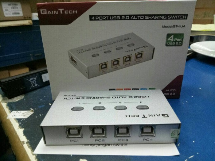Auto switch printer usb 4-port