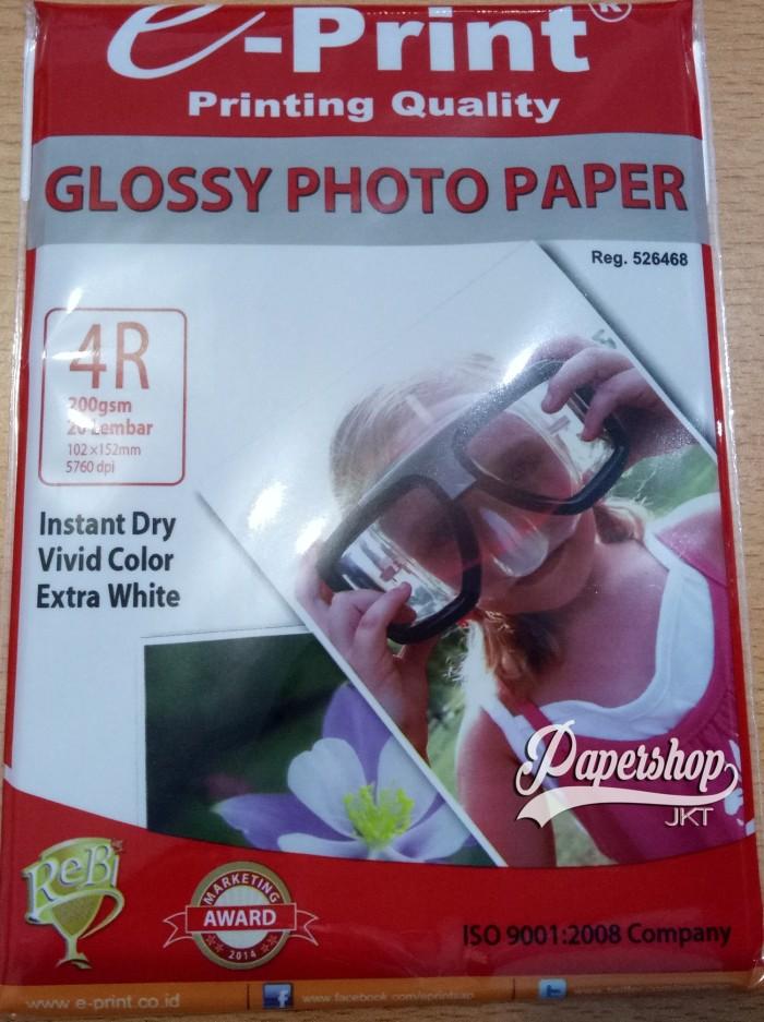 Foto Produk GROSIR!!! Kertas Foto 4R A6 200GSM Silky Gold Photo Paper Glossy dari Paper Shop Jkt