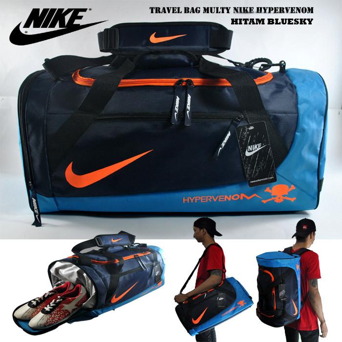 harga Tas gym / tas olahraga / tas travel nike hypervenom navy biru - oranye Tokopedia.com