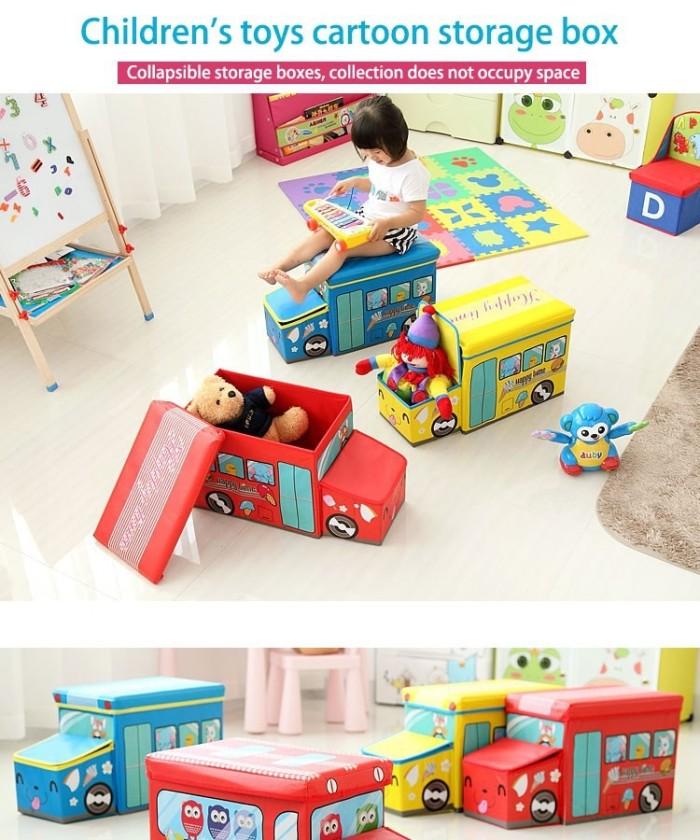 harga Box cartoon storage bus kotak penyimpan mainan anak toys Tokopedia.com