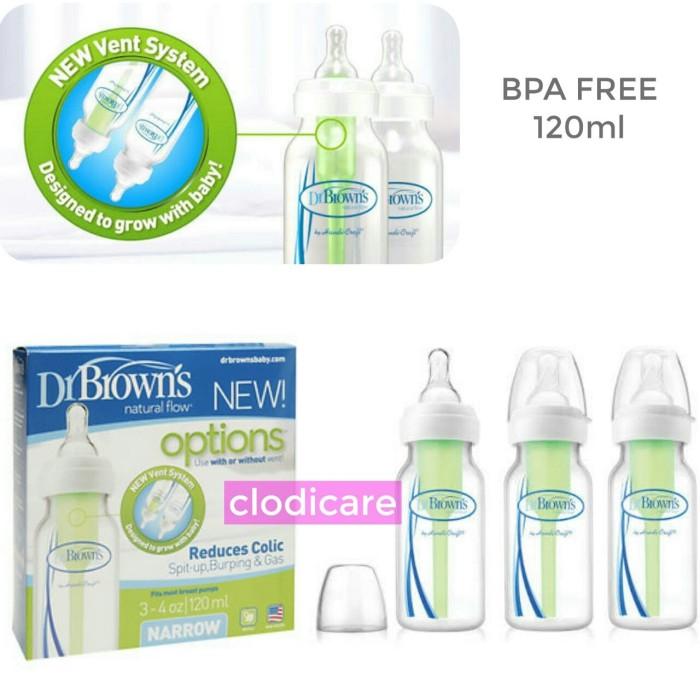harga Dr browns's pp option narrow bottle 120ml botol susu bayi tanpa kotak Tokopedia.com