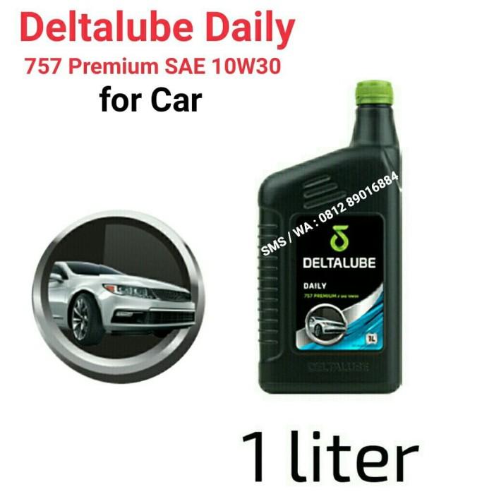 harga Deltalube daily 757 premium sae 10w30 kemasan 1 liter Tokopedia.com