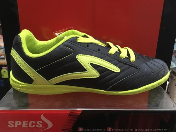 Jual Promo Sepatu Futsal Specs Brave Warna Hitam Hijau Original
