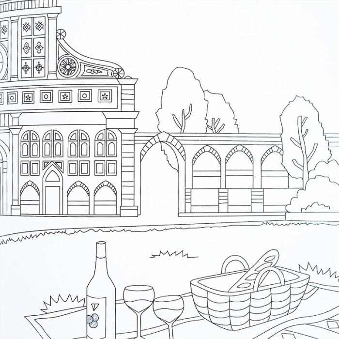 Jual Italy Travel Coloring Book Buku Mewarnai Untuk Dewasa