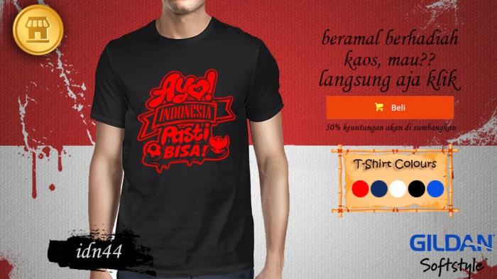 harga Kaos explore indonesia distro t shirt ayo indonesia pasti bisa 44 Tokopedia.com