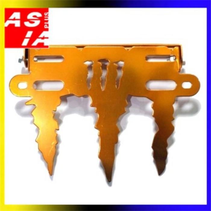 harga Breket dudukan plat no monster gold aksesoris variasi motor racing Tokopedia.com
