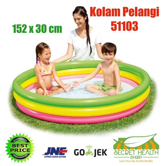 harga Bestway kolam renang pelangi anak keluarga mandi bola 3 ring karet Tokopedia.com