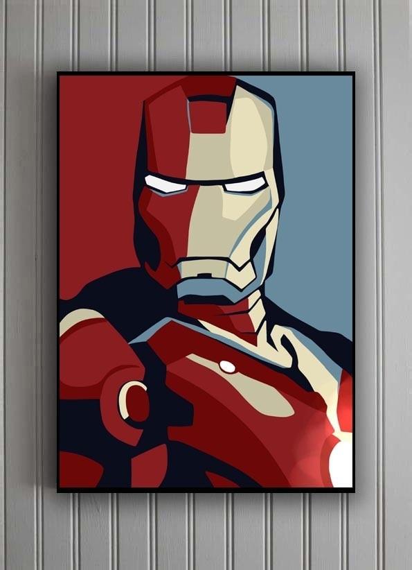 harga Poster + pigura art ironman b2 (50x70cm) Tokopedia.com