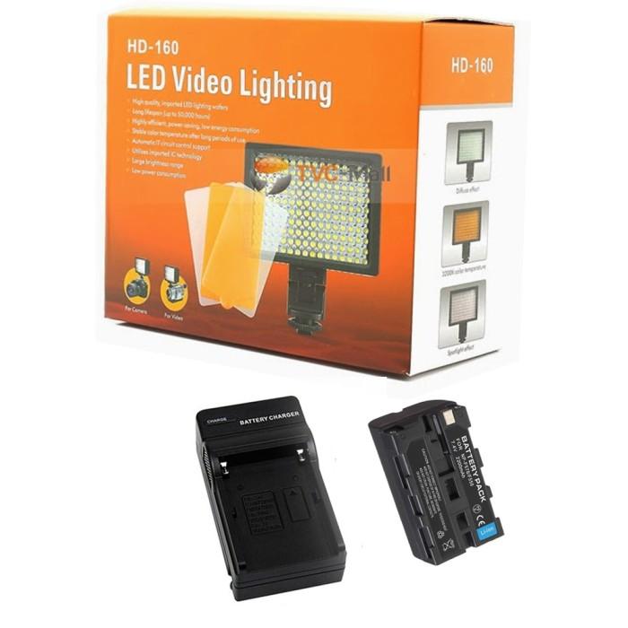harga Asli paket led hd-160 video kamera charger dan baterai sony np-f570 Tokopedia.com