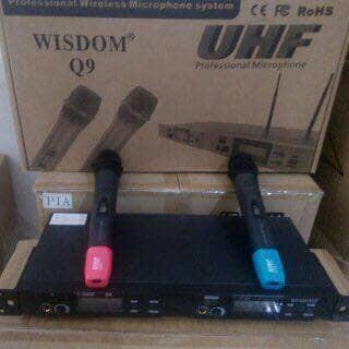 harga Waireless microphone wisdom q9 Tokopedia.com