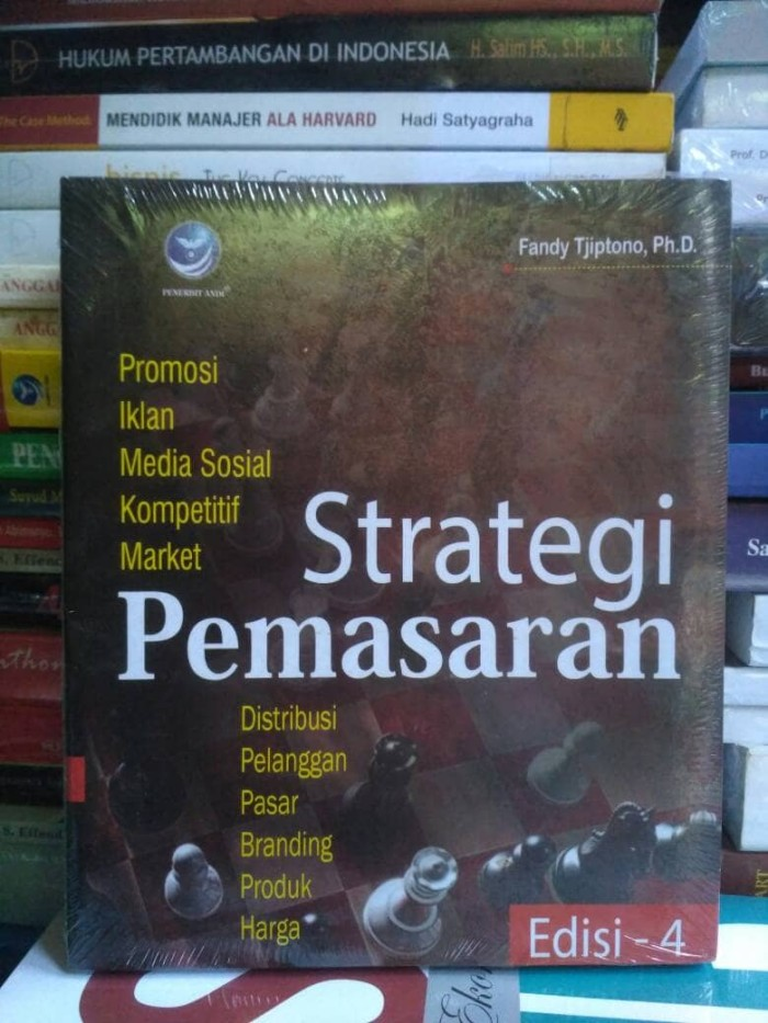 harga Strategi pemasaran edisi 4 by fandy tjiptono ph.d. Tokopedia.com