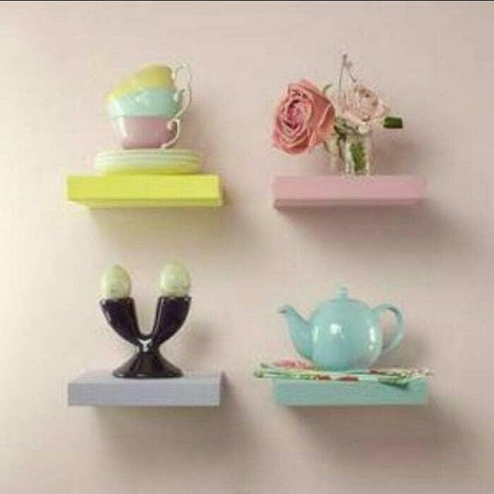 harga Rak dinding 25x15x3/floating shelf/rak ambalan Tokopedia.com