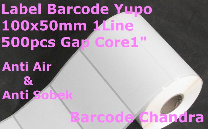 harga Yupo 100x50mm 1line 500pcs core 1  gap 2mm barcode label Tokopedia.com
