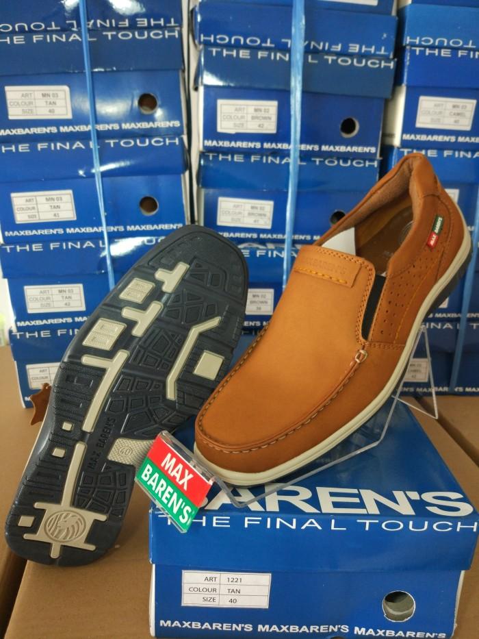harga Sepatu kulit pria terbaru max barens ori murah berkualitas mx 1221 tan Tokopedia.com