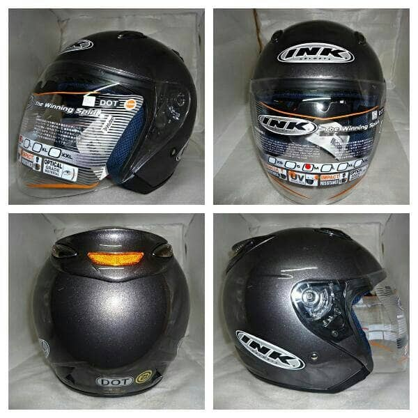 SALE HELM INK CENTRO JET SOLID GUN METAL ABU ABU TUA 100% ORIGINAL 1