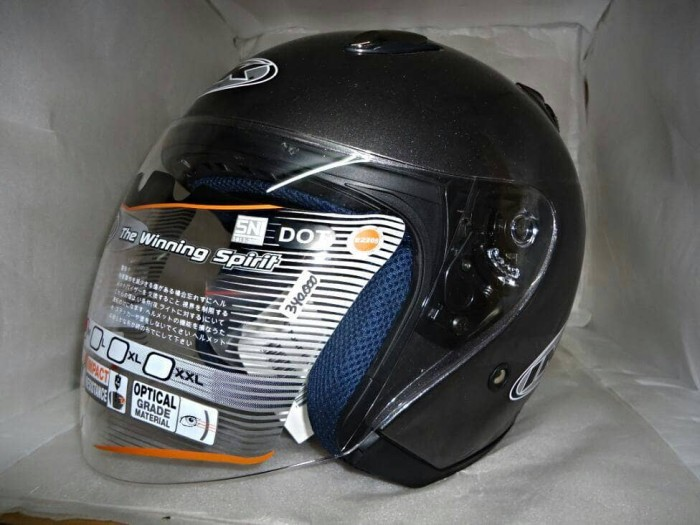 SALE HELM INK CENTRO JET SOLID GUN METAL ABU ABU TUA 100% ORIGINAL 4
