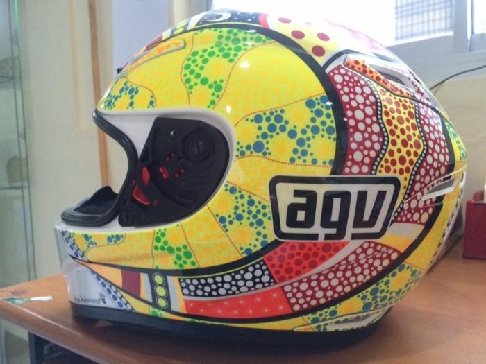 Helm AGV gp tech Valentino Rossi RARE 2