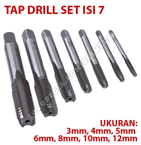 harga Tap drill bits set isi 7 / mata bor pembuat ulir baut Tokopedia.com