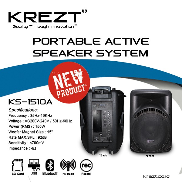 Gmc 885u Speaker Aktif Bluetooth Connection Biru. Source · Speaker Aktif Krezt .