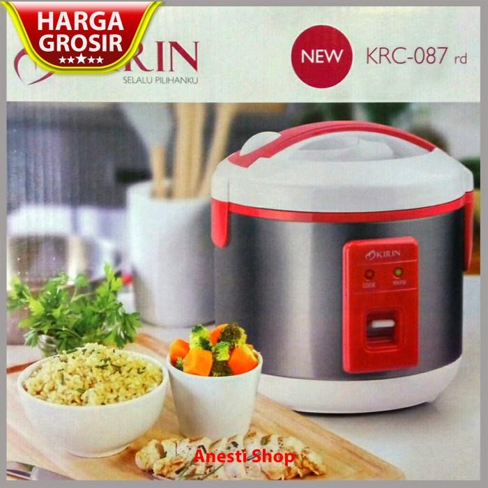 Promo - Magic Com Rice Cooker Kirin KRC 087-RD - 1 Liter - Merah