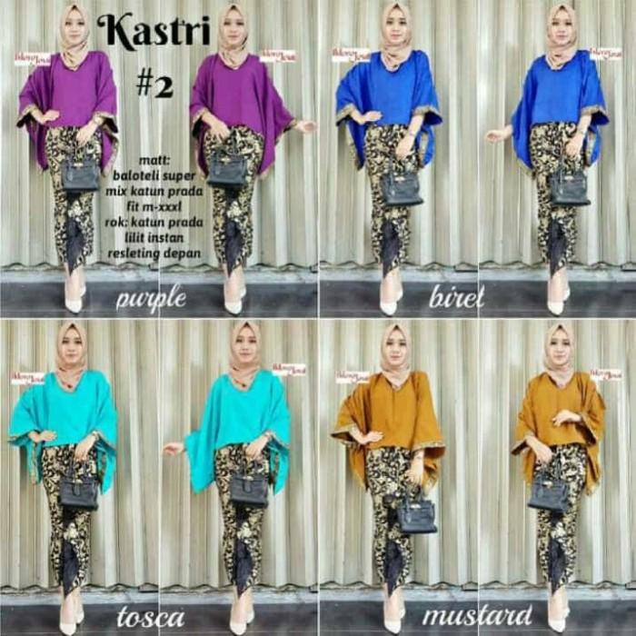 harga Setelan rok blus kastri - baju hijab batik solo Tokopedia.com