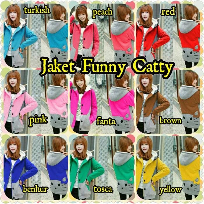 Jual Jaket Funny Catty   jaket sweater hoodie premium distro wanita ... b025f782d1